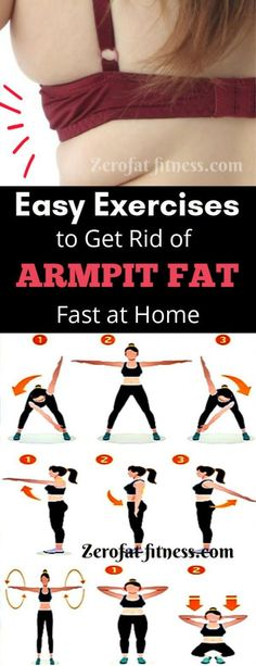 How to Get Rid of Armpit Fat in a Best Underarm Fat Exercises Losing that arms fat shouldn't be problem ? Here is exercises to get rid of armpit fat underarm fat and back bulge in a week.Shrink that arm fat now Lose Back Fat, Fat To Fit, Lose Fat, Lose Belly Fat, Armpit Fat, Fat Burning Workout, Weight Loss Smoothies, Gewichtsverlust Smoothies, Papaya Smoothie