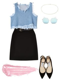 """""""Untitled #40"""" by tilly-15 on Polyvore featuring New Look, Blue Nile, Jimmy Choo, Quay and By Terry"""