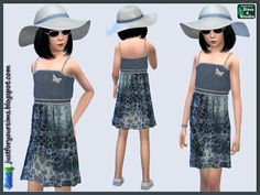 Sims 4 CC's - The Best: Dress for Girl by Just for you Sims