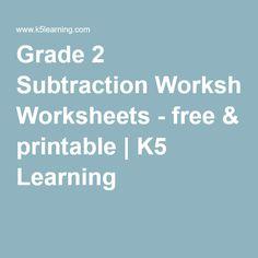 Printables K5 Learning Grade 2 Math Story Sums Measurement grade 1 word problems worksheet tutoring pinterest words 2 subtraction worksheets free printable k5 learning