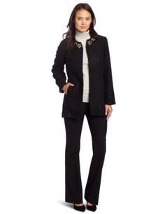Alfred Dunner Women's Sparkle Eyelash Jacket Alfred Dunner. $40.35. 100% Polyester. Made in China. Embellished. Open front. Dry Clean Only
