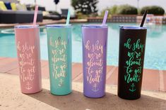 Family Vacation Ideas Winter Disney Worlds Vinyl Tumblers, Personalized Tumblers, Custom Tumblers, Disney Water Bottle, Thermal Bottle, Thermal Cup, Candy Jars, Vinyl Projects, Mixed Drinks