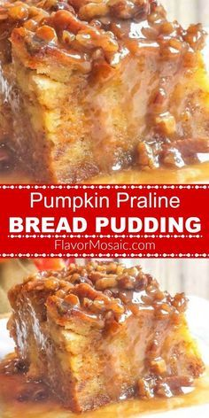 Pumpkin Praline Bread Pudding makes an easy yet awesome Fall or Thanksgiving pumpkin dessert. Pumpkin Praline Bread Pudding makes an easy yet awesome Fall or Thanksgiving pumpkin dessert. Thanksgiving Recipes, Fall Recipes, Sweet Recipes, Holiday Recipes, Thanksgiving Stuffing, Thanksgiving Decorations, Thanksgiving 2020, Holiday Meals, Thanksgiving Side Dishes