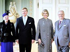 koninklijkhuis:  Dutch State Visit to Denmark, March 17, 2015-Official Photo-Queen Margrethe, King Willem-Alexander, Queen Maxima, and Prince Henrik
