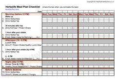 Herbalife Meal Plan Food Journal Worksheet 1