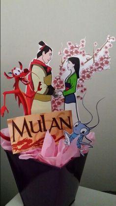 Mulan party centerpiece
