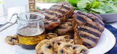 Grilled ribeye steaks are made easy with a marinade featuring Worchestershire sauce and Simply Organic& Steak Grilling Seasons.