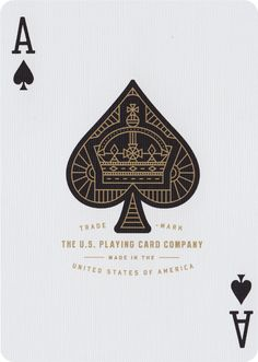 The Ace of Spades from Monarch Playing Cards