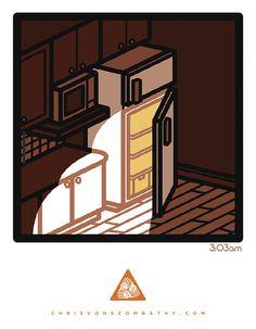 3:03am, an illustration by artist/designer Chris von Szombathy.