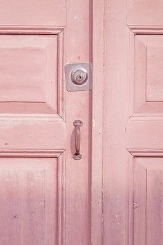 Pink door  colors of the rainbow
