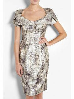 love how the neckline opening becomes this tailored collar that is stretched out over this generous neckline ***Find Your Dream Dress - Wedding Dresses for Mature Brides - Woman And Home