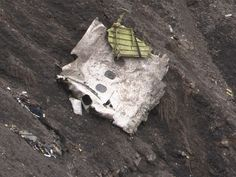Debris from the Germanwings Airbus A320 at the crash site in the French Alps.  Denis Bois, AFP/Getty Images