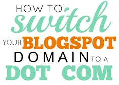 How to change Blogspot to Dot Com via @somewhatsimple