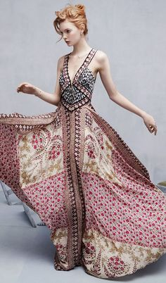 marchesa patchwork dress
