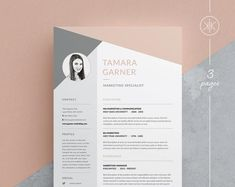 Resume / CV Template - Tamara page) --- Welcome to Keke Resume Boutique! Our templates are created to the highest standard of modern design and editability. They are the stepping stone on Cover Letter Template, Cv Template Word, Letter Templates, Resume Templates, Receipt Template, Resume Cv, Resume Design, Resume Help, Resume Tips