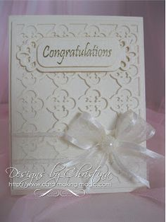card by Christina Griffiths.... pretty for a wedding