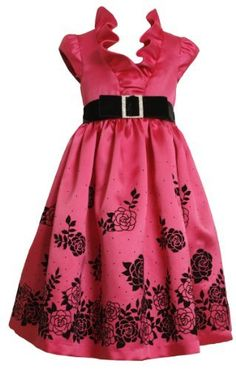 Bonnie Jean Girls 7-16 Satin Dress With Flocked Border, Fuschia, 10 Bonnie Jean, http://www.amazon.com/dp/B008ATEZNQ/ref=cm_sw_r_pi_dp_Dl0xqb0AFB6YS