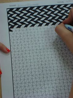 Adventures of a Middle School Art Teacher: 7th Grade ~ OP Art lesson