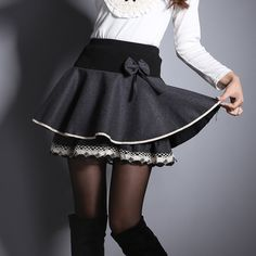 b173555724dc0c Women s skirts Underskirt 2016 fashion women pleated bow skirt lady s a  line skirts for spring autumn winter free shipping JX214-in Skirts from  Women s ...