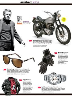 Steve McQueen Style - on the hunt for the leather jacket. Steve Mcqueen Motorcycle, Steve Mcqueen Bullitt, Steeve Mcqueen, Steve Mcqueen Style, Mode Man, Sharp Dressed Man, Gentleman Style, Style Guides, Movie Stars