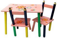 Imagina a tus niñas comiendo o haciendo sus manualidades con este juego de sillas y mesa! Tierno.... Pycca, todo para tu hogar!