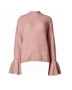 Buy Marks and Spencer Blush Funnel Neck Flute Sleeve Cropped Jumper Online - Wardrobe Icons. Handpicked essentials curated by fashion experts.