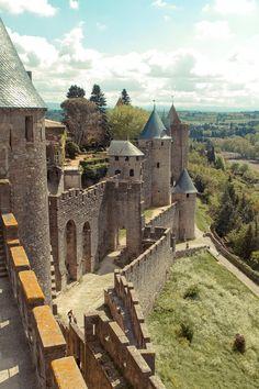 Chateau et remparts de la cite de Carcassonne, France