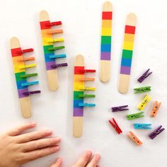 RAINBOW PEG MATCH you know I love rainbows AND fine motor development This peg matching game is perfect for developing colour Child Development Activities, Motor Skills Activities, Toddler Development, Preschool Learning Activities, Infant Activities, Fine Motor Skills, Color Activities For Toddlers, Formation Montessori, Busy Boxes