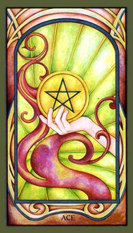 December 24 Tarot Card: Ace of Pentacles (Fenestra deck) This is a time of abundance and vitality, a time to receive with gratitude and grace
