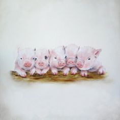 French Country Pig Decor Baby Girl Nursery by NickiNickiGallery