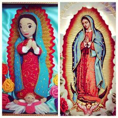 """Grace & Ritual """"Guadaloope"""" and """"Our Lady of Guadalupe"""" amigurumi"""