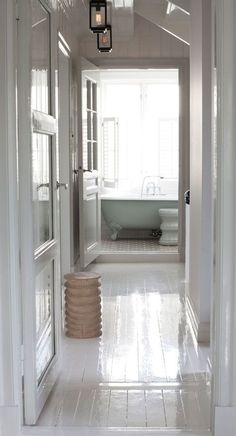 Like the idea of a tub being in its own small, intimate space. Cozier and more relaxing than sitting in the middle of a large bathroom.