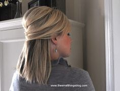 Love this hairstyle! She even provides a youtube tutorial! The Small Things Blog: Elegant Half Up