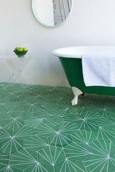 Go Green - 16 Times Tile Made The Room - Photos