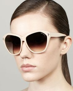 Tom Ford Angelina Squared Cat-Eye Sunglasses, OWN these in Black!