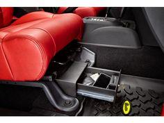 Bestop® Locking Under Seat Storage Box in Textured Black | Jeep Parts and Accessories | Quadratec
