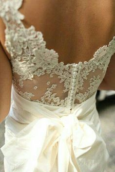 low back lace wedding gown