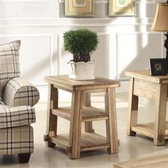 Ridgedale Chairside Table I Riverside Furniture 16x26Dx24H