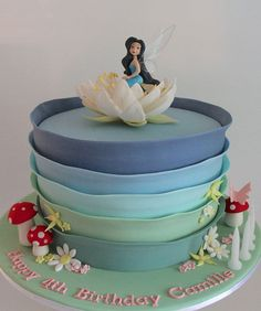 Silvermist in her water lily home in Pixie Hollow, Tinkerbell cakes