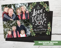 Items similar to Love, Peace, Joy Christmas Photo Card Chalkboard Christmas Cards PRINTABLE Chalkboard Christmas Card, Christmas Holiday Cards Photo on Etsy Christmas Photo Cards, Holiday Cards, Christmas Holidays, 2nd Birthday Invitations, Christmas Chalkboard, Shark Party, Christmas Printables, Peace And Love, Joy