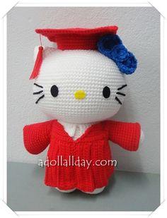 Hello Kitty Amigurumi Crochet Graduate