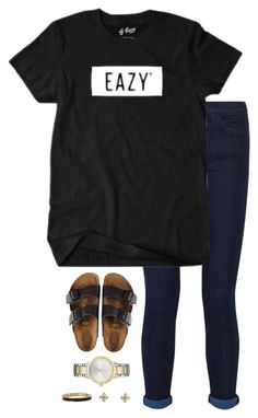 """""""g-eazy ❤️"""" by preppin ❤ liked on Polyvore featuring Birkenstock, Current/Elliott, Kate Spade, Vera Bradley, women's clothing, women, female, woman, misses and juniors"""