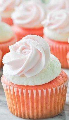 Strawberry Cupcakes with Ice Cream Buttercream