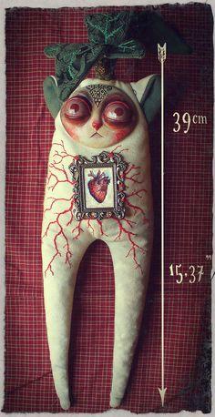 Gritters: Mandragora - OOAK art toy. $109.00, via Etsy.