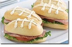 football sandwiches for baby shower