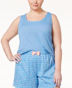Jenni by Jennifer Moore Plus Size Flyaway Tank, Only at Macy's