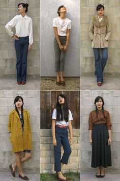like the 2nd, 3rd and 5th outfit. Miss Moss: The new girls.Like the short pants, preppy blouse, coat with fur.