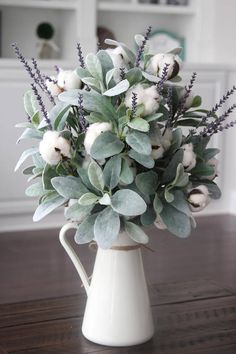 Lamb's Ear, cotton and lavender. The perfect combination.