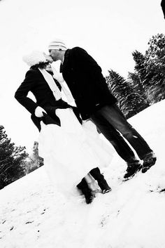 our outdoor winter wedding - photography m.linn studios