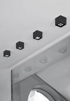 Spot de plafond / à LED / carré / orientable - UNA PRO 75 by Carlotta de Bevilacqua - Danese